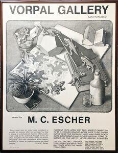 Maurits Cornelis Escher, 'Vorpal Gallery, San Francisco Exhibition Poster', 1970