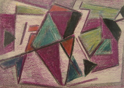 Agnes Weinrich, 'Abstraction (Maroon)', ca. 1939