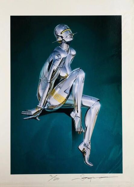 Hajime Sorayama, 'Sitting on a step', 2019