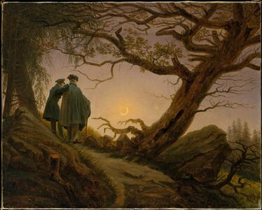 Caspar David Friedrich, 'Two Men Contemplating the Moon', ca. 1825–1830
