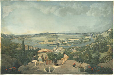Carle Vernet, 'View of Paris from the Terrace of the Pavillon de Brimborion', 1810/1812