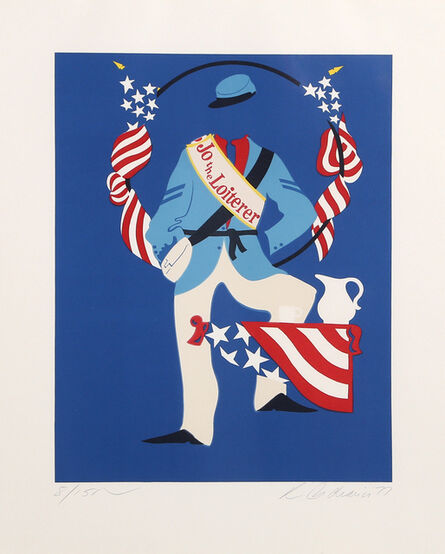 Robert Indiana, 'Joe the Loiterer from Mother of Us All', 1977