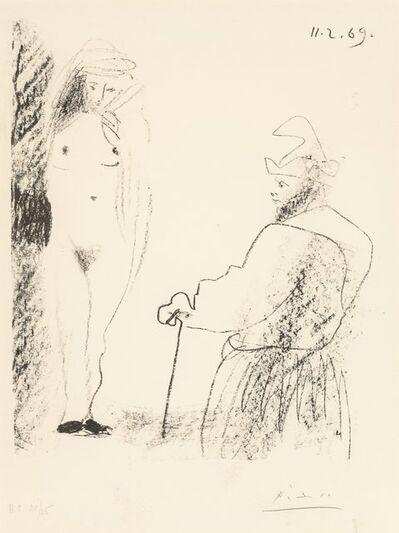 Pablo Picasso, 'Femme Nue et Homme à la Canne, from Picasso-dessins 27.3.66 to 15.3.68', 1969