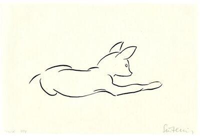 Renée Sintenis, 'Liegender Hund', not dated