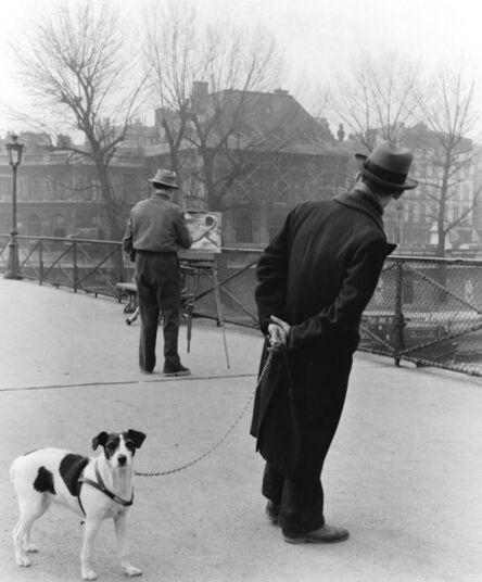 Robert Doisneau, 'Le Fox-Terrier Au Pont des Arts', 1953