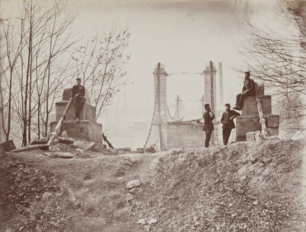 André Adolphe-Eugené Disdéri, 'Ruins of the Pont de Sèvres', 1871