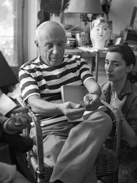 André Villers, 'Picasso and Jacqueline in their villa Notre-Dame-de-Vie, Mougins', 1960