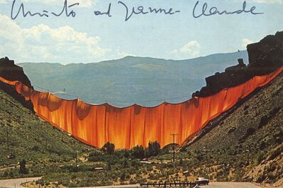 Christo, 'The Valley Curtain, Rifle, Grand Hogback, Colorado (SIGNED), from Jeanne-Claude's assistant and book collaborator', 1972