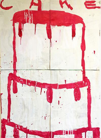Gary Komarin, 'Cake (Raspberry on White)', 2017