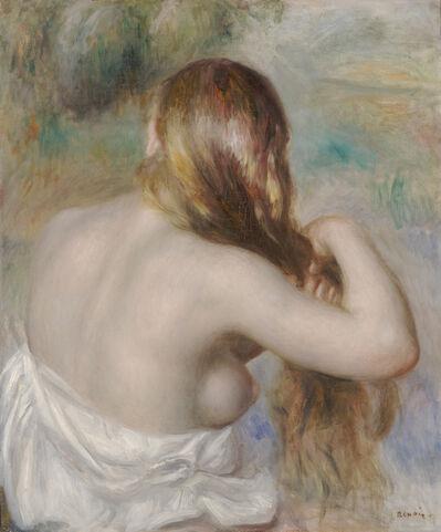 Pierre-Auguste Renoir, 'Blonde Braiding Her Hair', 1886