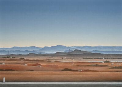 Christopher Pratt, 'Burgeo Road: The Blue Hills of Couteau', 2014