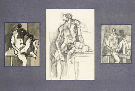Keith Vaughan, 'Three Drawings for Seated Figure', 1950