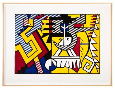 Roy Lichtenstein, 'American Indian Theme VI', 1980