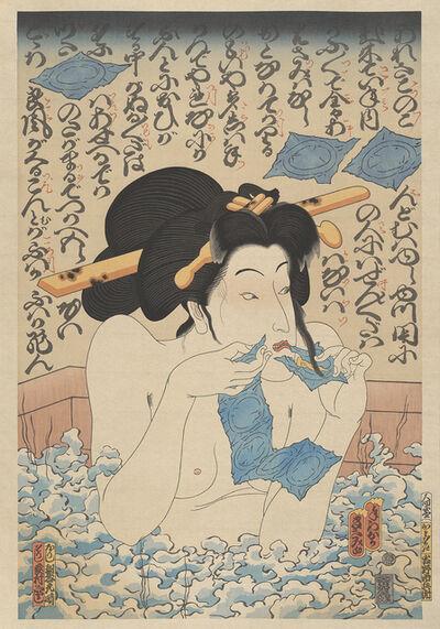 Masami Teraoka, 'AIDS Series/Geisha in Bath', 2008