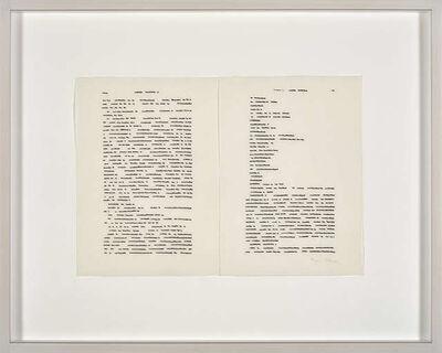 Irma Blank, 'Trascrizioni', ca. 1974/1975