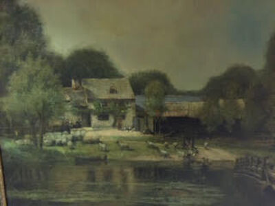 From the School of John Constable (British), '19th century landscape original oil painting (detail 2)'