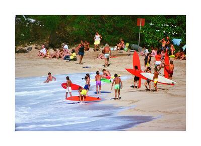 Jeff Divine, 'Duke Contest, Sunset Beach', 1971-1980