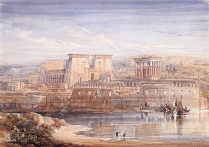 David Roberts, 'Philae: A View of the Temples From the South', 1839