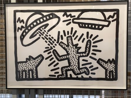Keith Haring, 'Untitled (Flying Saucers and Dogs)', 1982