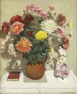 William Turner, 'A STILL LIFE OF A VASE OF FLOWERS AND AN ORNAMENT OF A WOMAN'