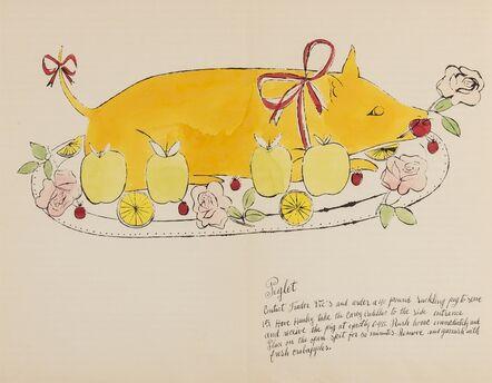 Andy Warhol, 'Piglet (from Wild Raspberries) (see Feldman & Schellmann IV.134.A)', 1959