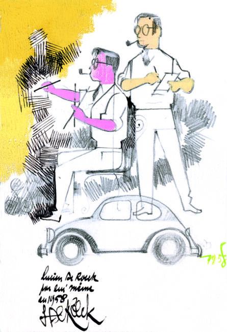 Lucien De Roeck, 'Autoportrait', 1958