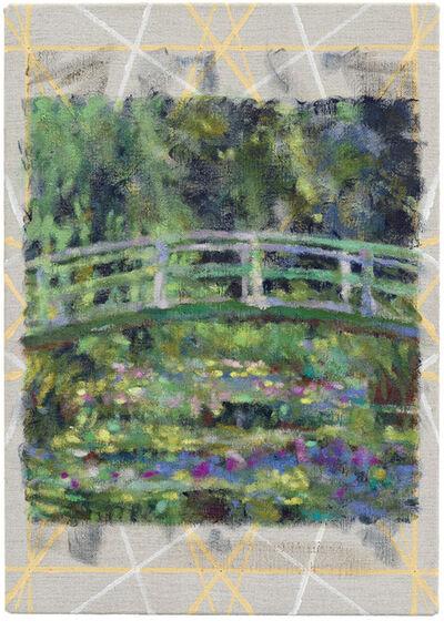 Jochen Plogsties, '13_21 [Seerosen] [Nach: Claude Monet, Der Seerosenteich, 94 × 89 cm, Öl auf Leinwand, 1899, Musée d'Orsay. In: Geo Epoche Edition, Nr. 22, Front Cover.]', 2021