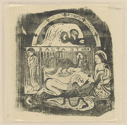 Paul Gauguin, 'Te Atua (The Gods) Small Plate [recto]', in or after 1895