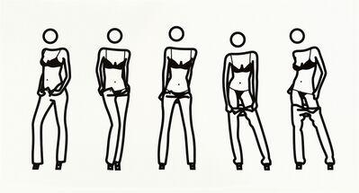 Julian Opie, 'Bijou gets undressed #6', 2004