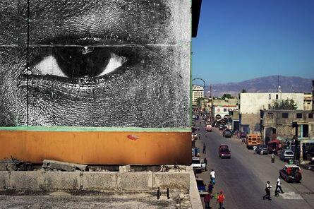 JR, 'Inside Out, Haiti, close up'