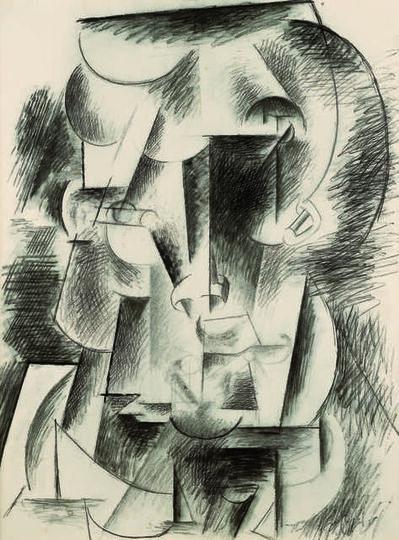 Pablo Picasso, 'Tête d'homme (Tête moustachue) (Head of a Man, Head with Moustache)', 1910 or 1912