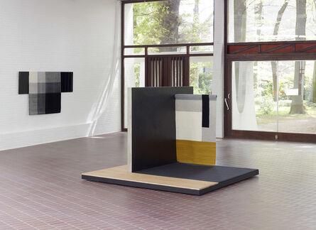 Andrea Zittel, 'centre: Planar Pavilion / left wall: Parallel Planar Panel (black, dark grey, light grey, off-white)', 2014