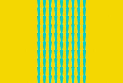Tess Jaray RA, 'Thorns - Blue on Yellow', 2017