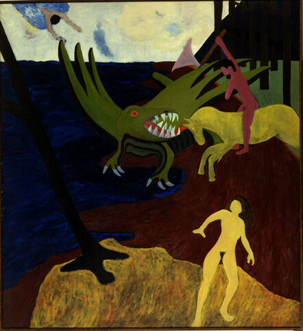 Bob Thompson, 'St. George and the Dragon', ca. 1961