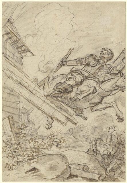 Jean-Honoré Fragonard, 'Don Quixote Attacking the Windmill', 1780s