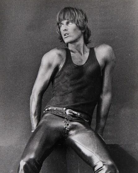 Peter Berlin, 'Self Portrait in Black Mesh Tank Top, Broadway, New York City', 1976