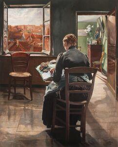Léon Frédéric, 'La dentellière flamande (The Flemish Lace Maker)', 1907