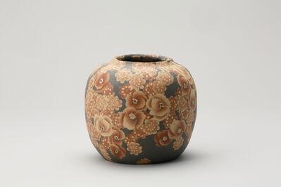 Ito Sekisui V, 'Mumyōi Neriage Round Jar with Flower Patterns', 2016