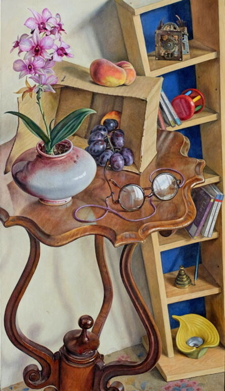Michael Taylor (b. 1952), 'Still life with orchid', 2017