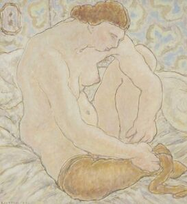 Harold Weston, 'Taking Stockings Off', 1929