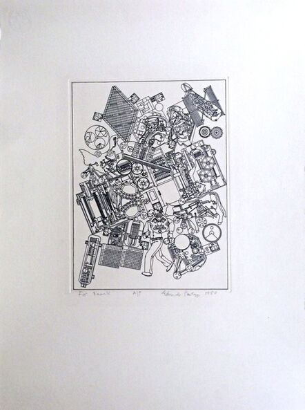 Eduardo Paolozzi, ' Untitled, inscribed to Frank Martin, legendary head of sculpture department at St. Martin's School of Art', 1980