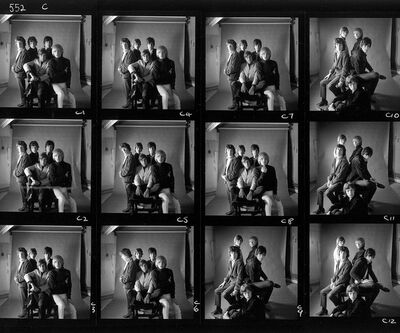 Gered Mankowitz, 'The Rolling Stones, 1965 - Mason's Yard Contact Sheet', 1965