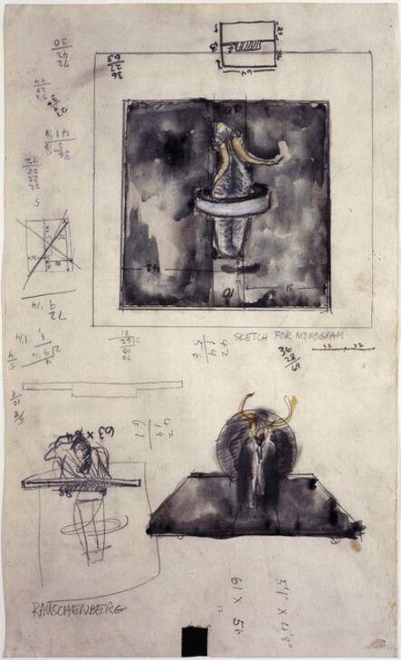 Robert Rauschenberg, 'Sketch for Monogram', 1959