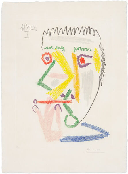 Pablo Picasso, 'Smoker with Red Cigarette', 1964