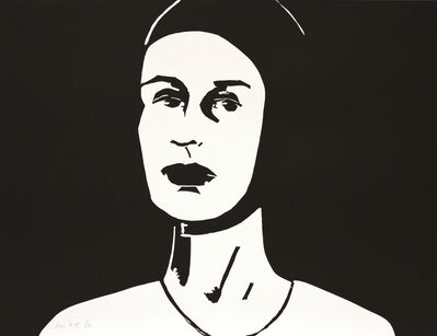Alex Katz, 'Black Cap (Ada)', 2010