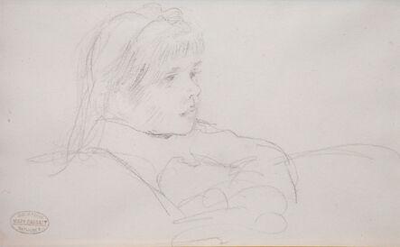 Mary Cassatt, 'Tete de Fillette (Head of a Girl)', ca. late 1800s