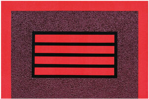Peter Halley, 'Red Horizontal Prison', 2014