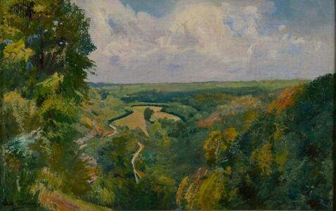 Léon Frédéric, 'Paysage de Nafraiture', ca. 1920