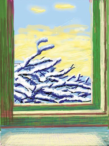 David Hockney, ' My Window, Art Edition (No. 501–750), iPad Drawing, 'No. 610', 23rd Dec 2010', 2019