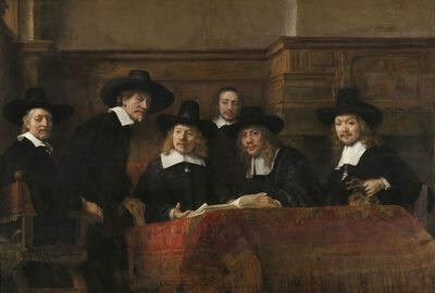 Rembrandt van Rijn, 'The Sampling Officials of the Amsterdam Drapers' Guild, known as 'The Syndics'', about 1662